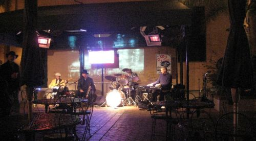 Charming Patio with Live Jazz