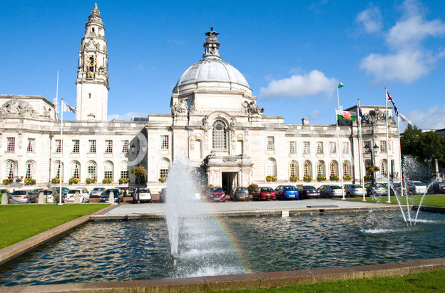 FOT615671 Cardiff City Hall South Wales