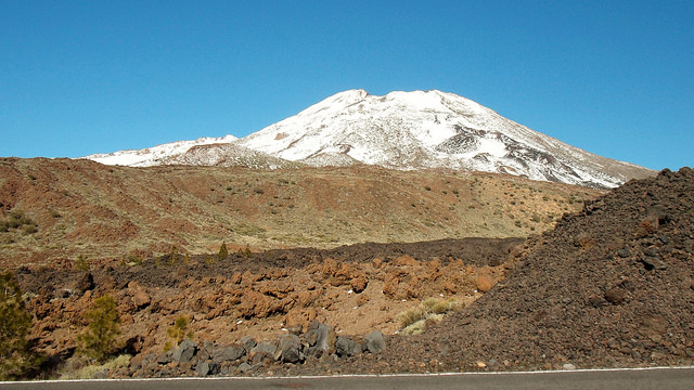 Snow on Mount Teide